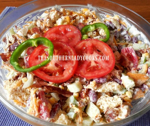 Cornbread Salad-The Southern Lady Cooks