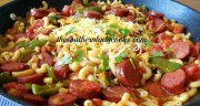 SMOKED SAUSAGE, PEPPERS AND PASTA SKILLET