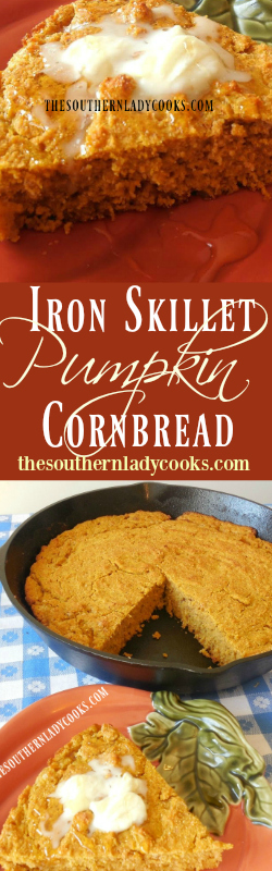 the-southern-lady-cooks-iron-skillet-pumpkin-cornbread