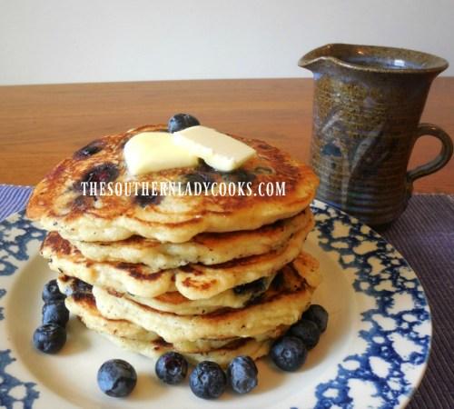 sourdough blueberry buttermilk pancakes recipe