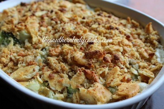 Blue Cheese Broccoli Casserole The Southern Lady Cooks