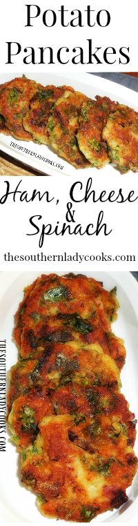 the-southern-lady-cooks-potato-pancakes-ham-cheese-spinach