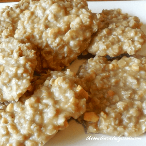 No Bake Peanut Butter Oatmeal Cookies The Southern lady Cooks