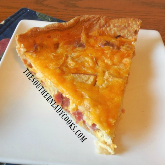 Ham, Apple and Cheese Quiche - The Southern Lady Cooks