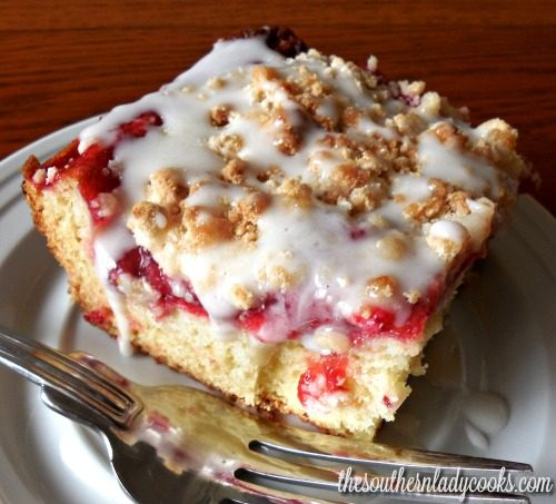 CHERRY COFFEE CAKE  The Southern Lady Cooks