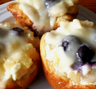 PINEAPPLE BLUEBERRY MUFFINS FROM CANNED CINNAMON ROLLS