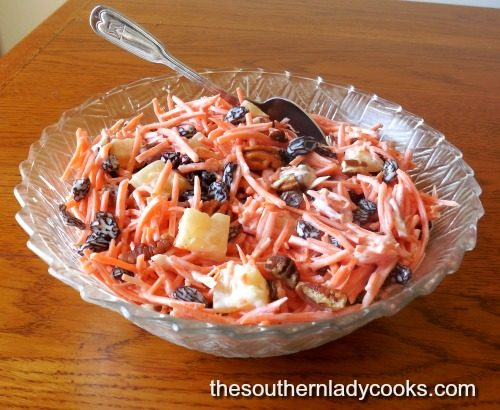 Classic Carrot Salad - The Southern Lady Cooks