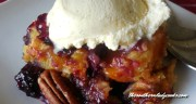 BLACKBERRY PEACH DUMP CAKE