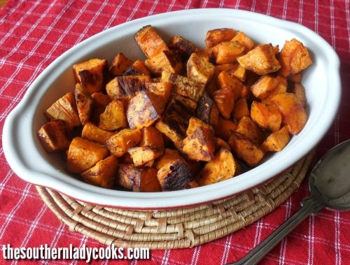 Easy Spicy Sweet Potatoes