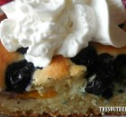 IRON SKILLET CAKE – PEACH, BLUEBERRY