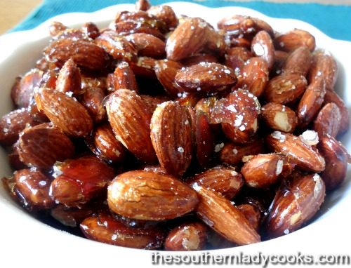 Honey Roasted Almonds-The Southern Lady Cooks
