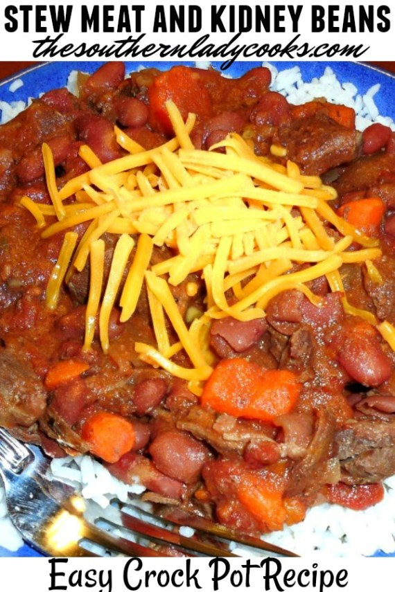 Crock Pot Stew Meat And Kidney Beans Easy Recipe