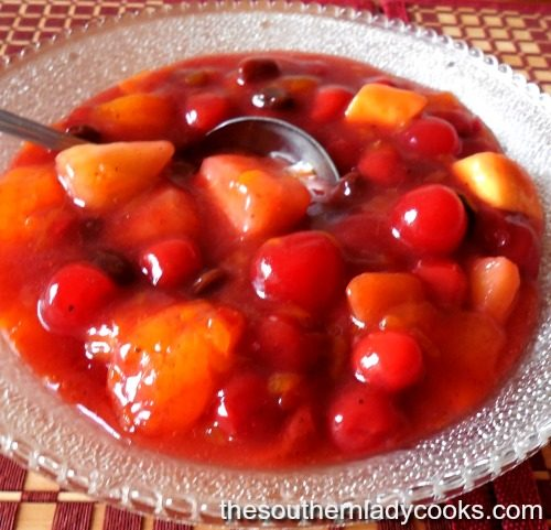 Crock Pot Fruit Compote-The Southern Lady Cooks
