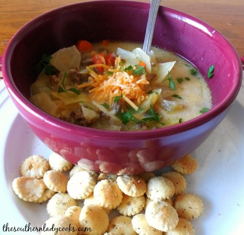 Easy Hamburger Cabbage Chowder