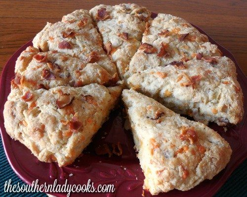 Bacon Cheddar Scones The Southern Lady Cooks
