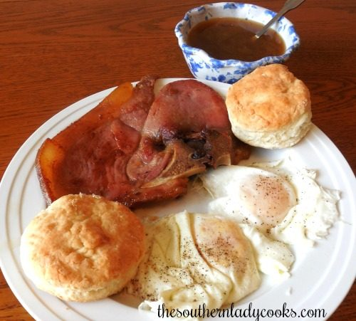 how to cook country ham slices