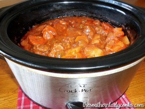 round steak stew-crock pot recipe