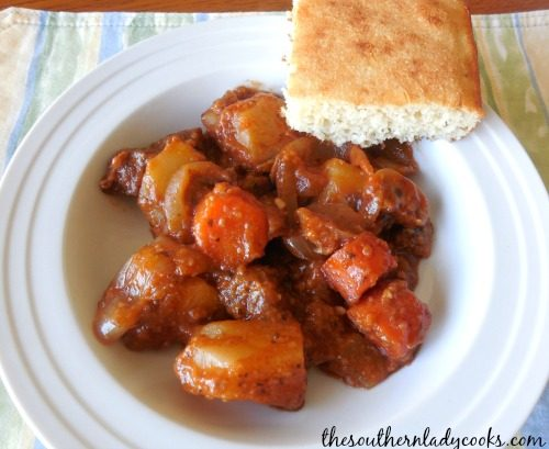 Crock Pot Italian Stew-The Southern Lady Cooks
