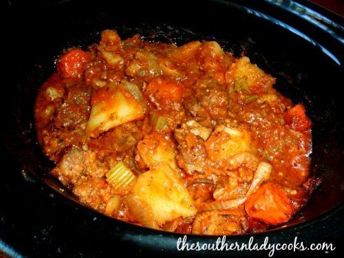 Crock Pot Italian Stew-Easy Recipe