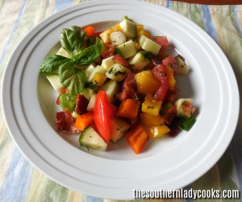 tomato zucchini salad