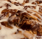 MAPLE BACON CINNAMON ROLL BAKE