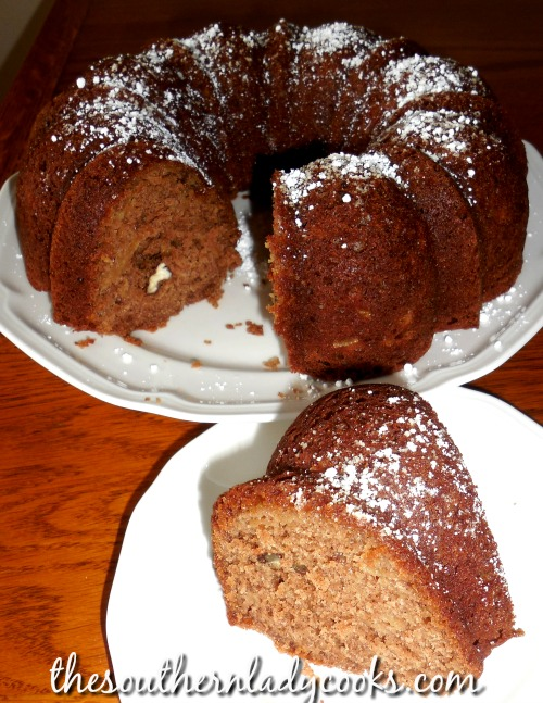 Apple Cinnamon Bundt Cake-The Southern Lady Cooks