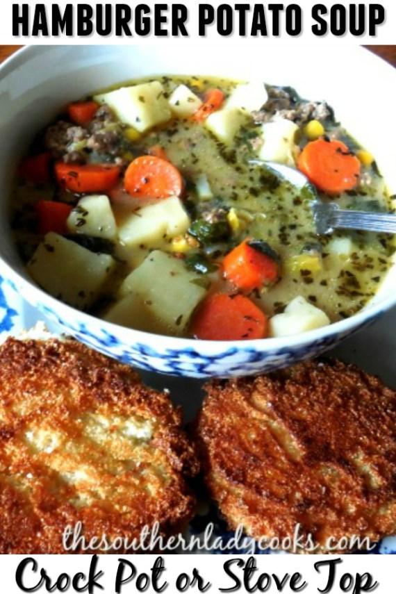 Hamburger Potato Soup - The Southern Lady Cooks