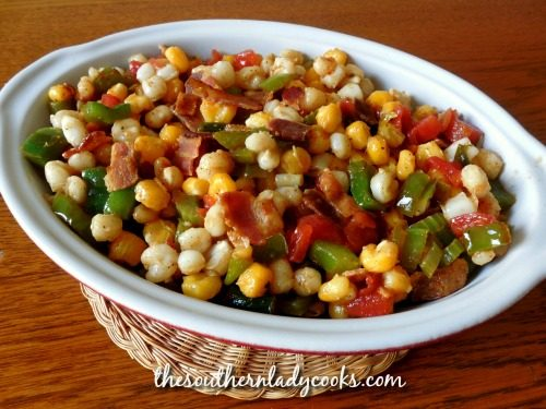 Cajun Hominy Skillet - The Southern Lady Cooks