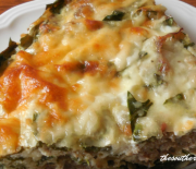 SAUSAGE SPINACH CRUSTLESS QUICHE