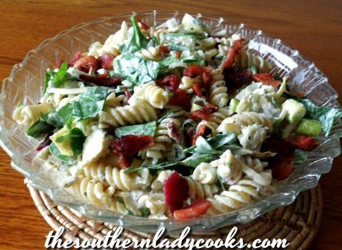 Bacon Artichoke Pasta Salad