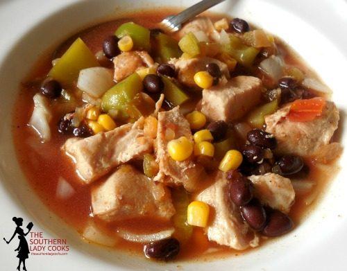 Slow Cooker Salsa Soup
