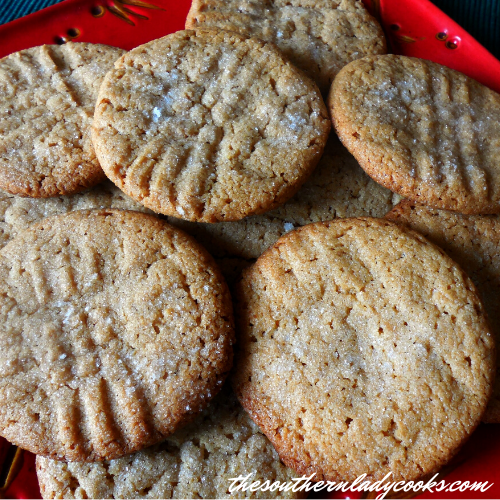 Three Ingredient Peanut Butter Cookies - The Southern Lady Cooks