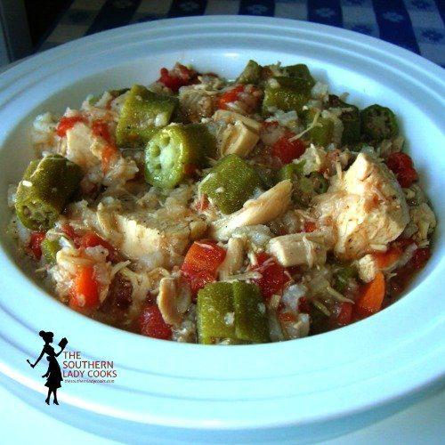 Slow Cooker Chicken Gumbo Soup