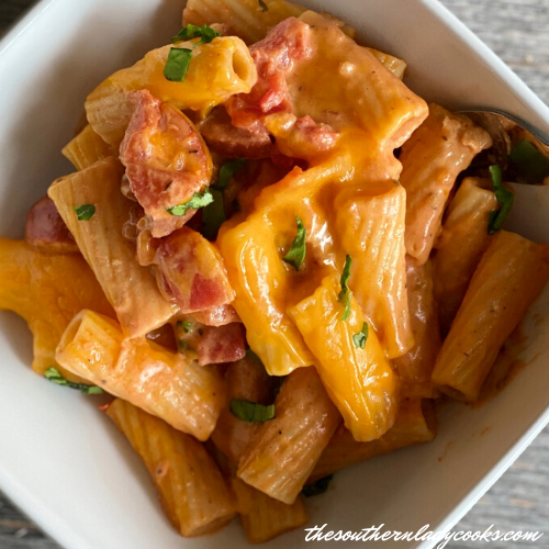 creamy smoked sausage pasta The Southern lady Cooks