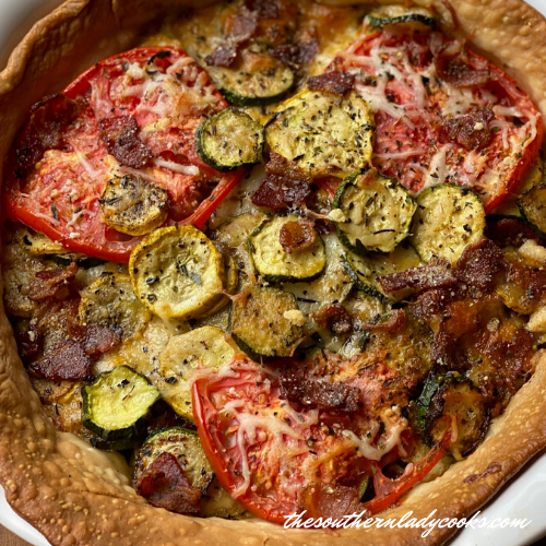 Garden Vegetable Pie - The Southern Lady Cooks