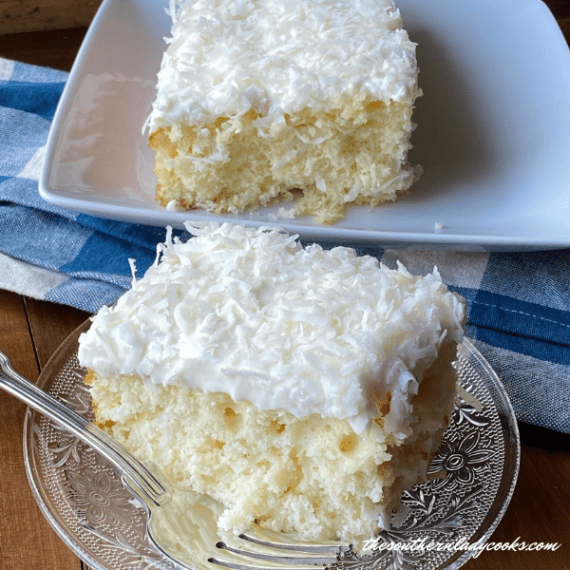 Sour Cream Coconut Cake - The Southern Lady Cooks