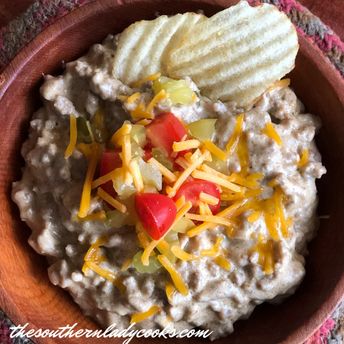Easy Cheeseburger Dip The Southern Lady Cooks