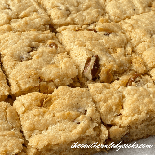 Butterscotch Pecan Blondies - The Southern Lady Cooks