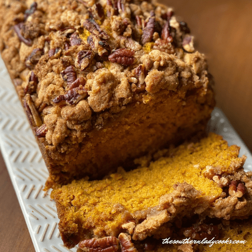 Pumpkin Pecan Streusel Bread - The Southern Lady Cooks