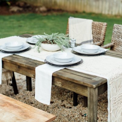 outdoor entertaining melamine plates