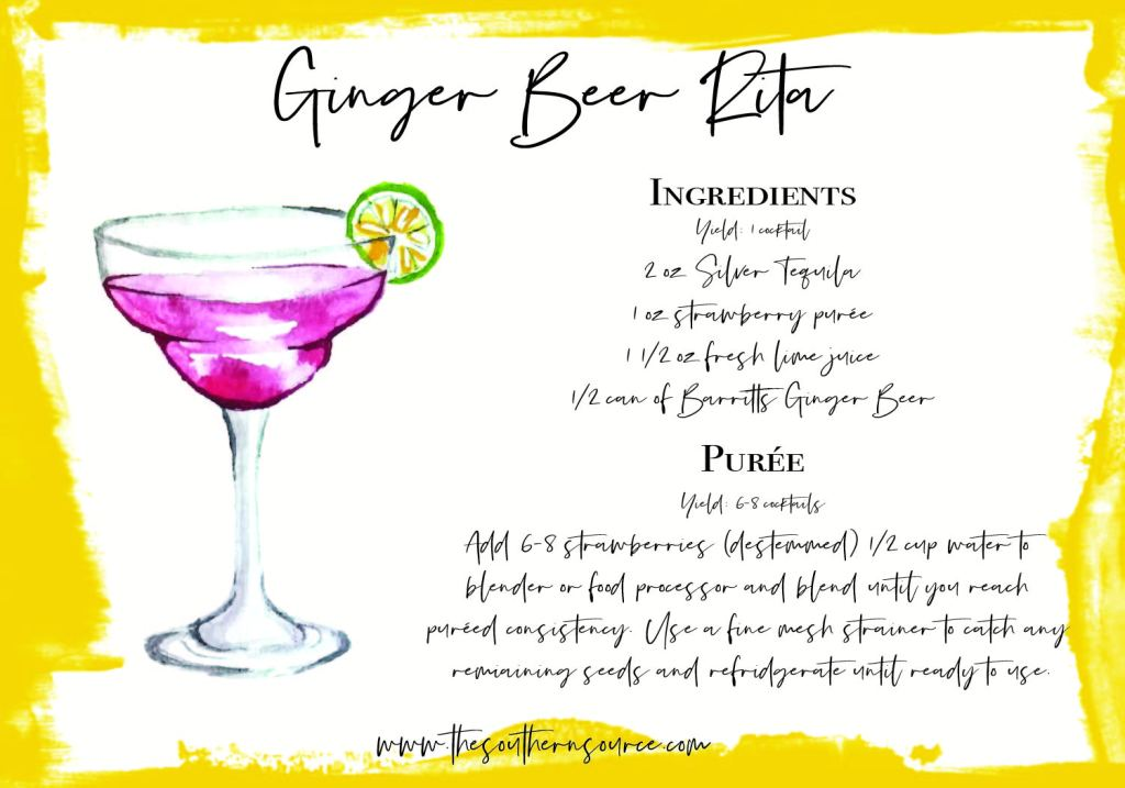 Ginger Beer Rita recipe card