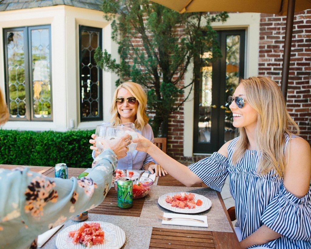 outdoor entertaining recipes watermelon and feta salad