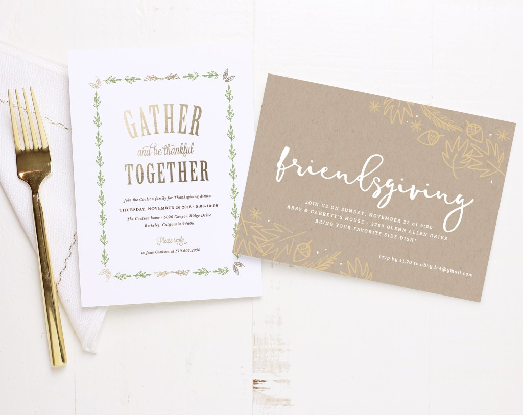 thanksgiving holiday cards from Basic Invite