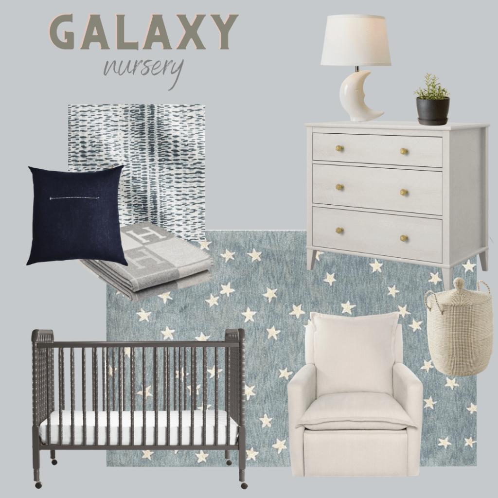 outer space nursery idea for baby boy nursery