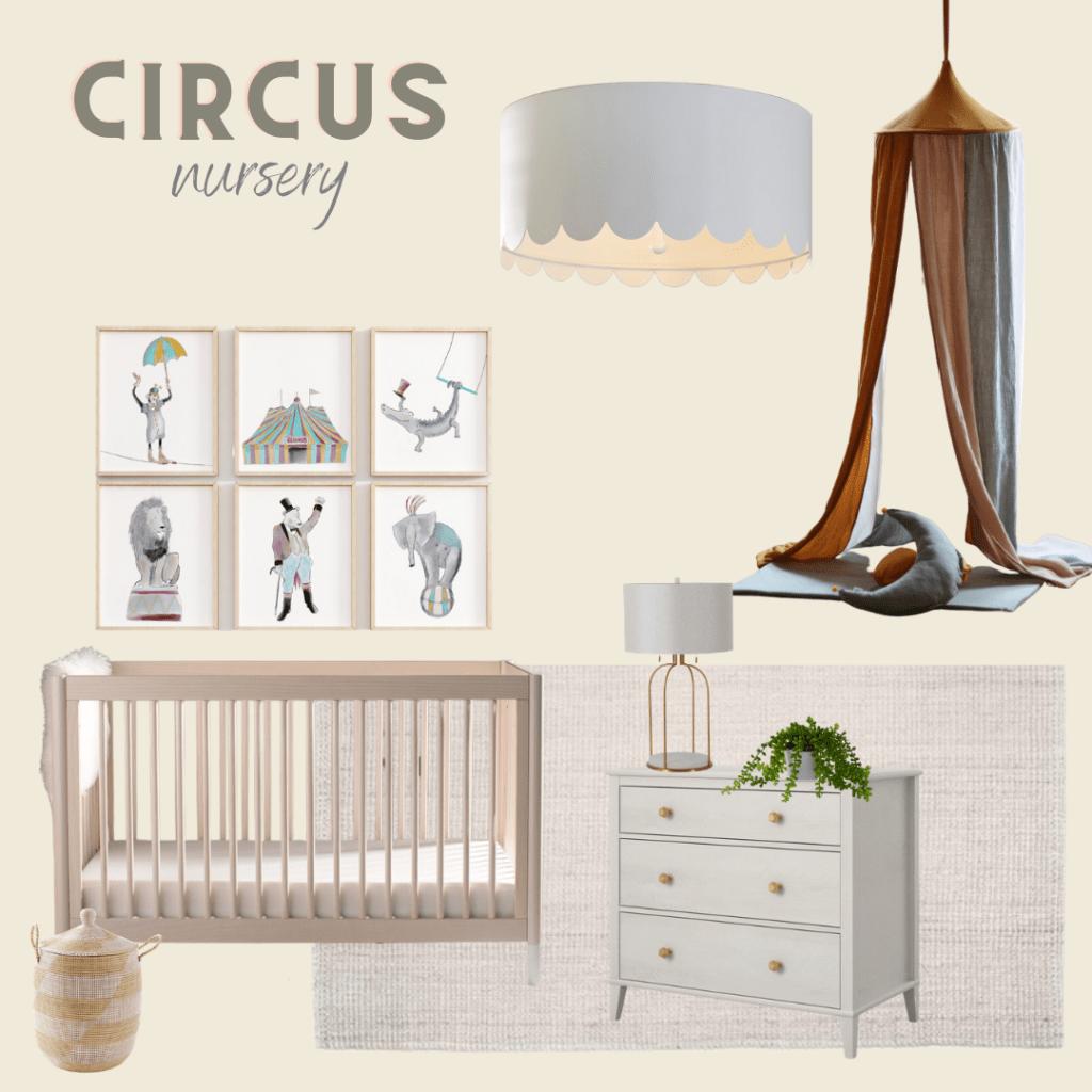 circus nursery for gender neutral nursery ideas