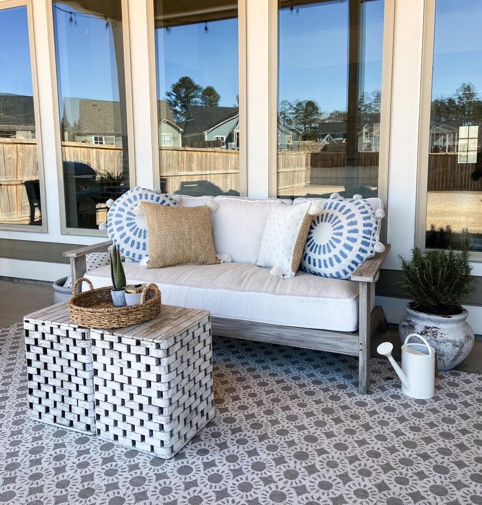outdoor patio inspiration gray weathered teak outdoor furniture