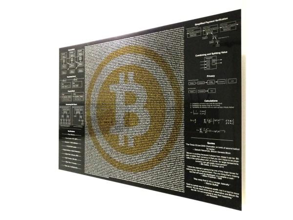 bitcoin wall art