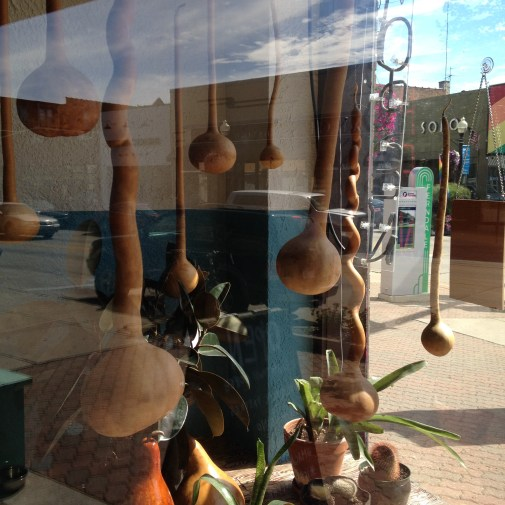 Window Display Gourds