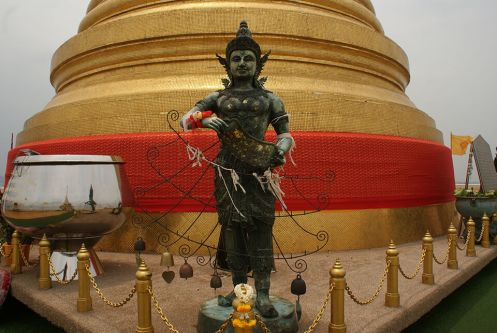 Statue atop the Golden Mount