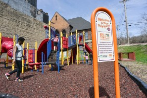 The Home Depot charity developed the playground for the the town's children.